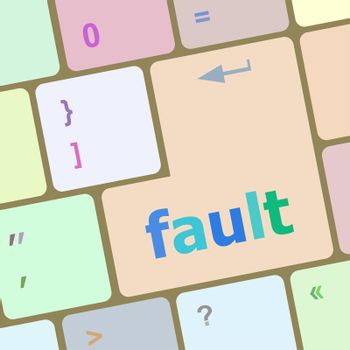 fault button on computer pc keyboard key