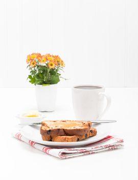 Cinnamon Raisin Toast Portrait