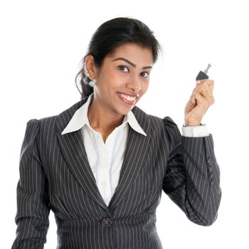 Indian woman with property key