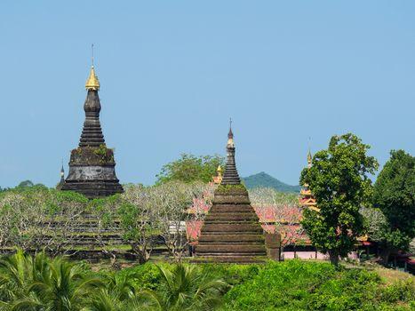 The Zina Man Aung Pagoda in Mrauk U, the Rakhine State of Myanmar.