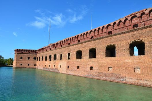 Fort Jefferson national park, an old fort located on the island of Dry. Tortugas. This is off the coast of Florida.It served as fort and prison during the Civil War.