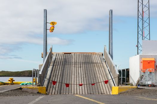 Ramp in a small harbour