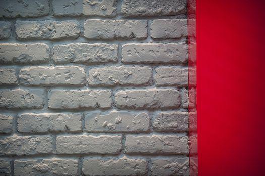 Gray brick wall in an interior