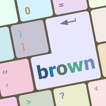 brown word on keyboard key