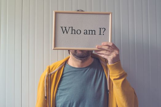 Who am I, self-knowledge concept