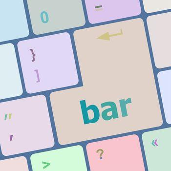 bar word on keyboard key, notebook computer