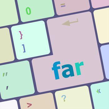 far word on keyboard key, notebook computer button