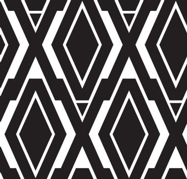 Abstract retro geometric seamless pattern. Seamless pattern included in swatch panel