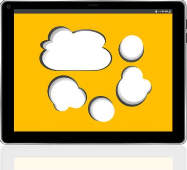 Cloud-computing connection on the digital tablet pc