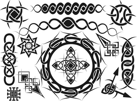 Ornament, elements for design in celtic style - a vector