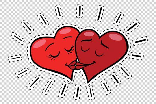 Kiss hearts Valentines
