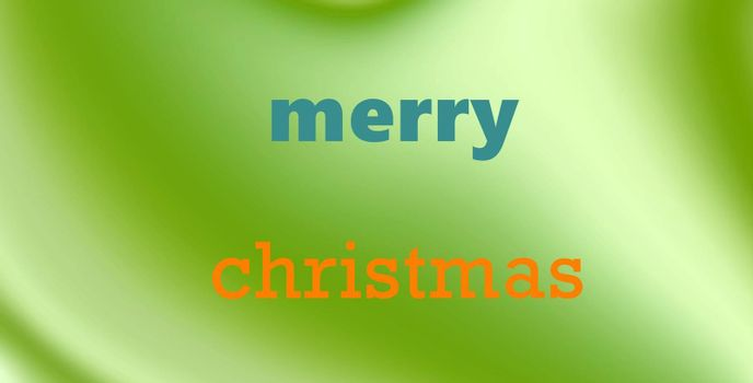 picture of a Merry Christmas card on green white gradient background