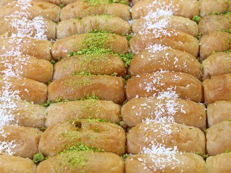 Baklava cookies in retail market display