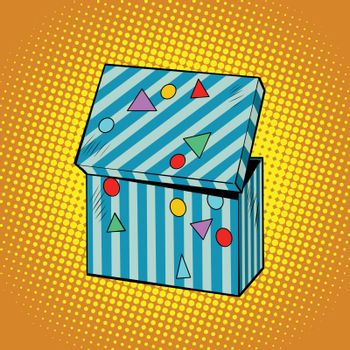 Striped holiday box for gifts