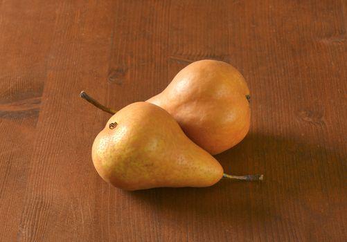 Ripe Bosc pears