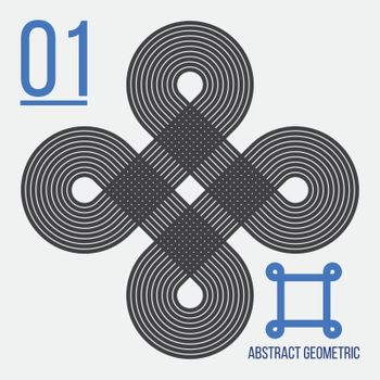 Separate abstract geometric vector figures with title