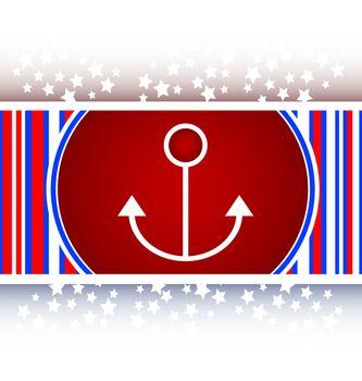 sea anchor sign on web icon (button)