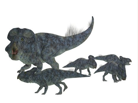 Protoceratops Mother with Offspring