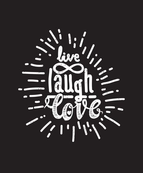 Poster live laugh love black