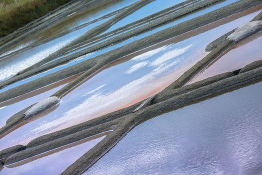 Salt evaporation pond in Guerande