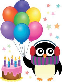Party penguin theme image 1