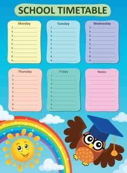 Weekly school timetable subject 3
