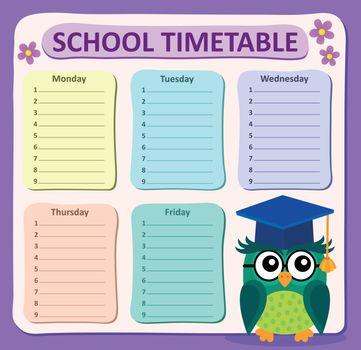 Weekly school timetable subject 4