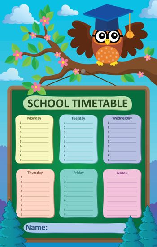 Weekly school timetable subject 5