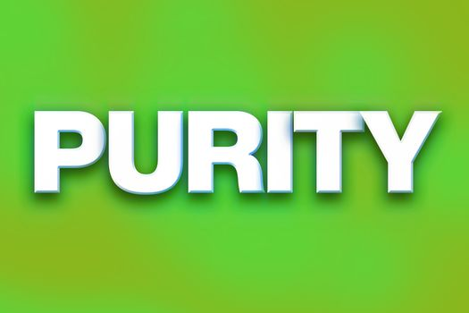 Purity Concept Colorful Word Art