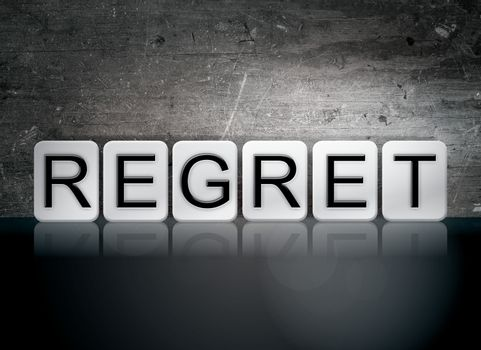 Regret Tiled Letters Concept and Theme