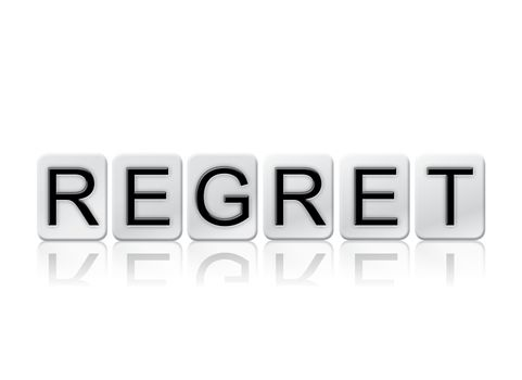 Regret Isolated Tiled Letters Concept and Theme