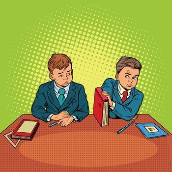 Two boys in school, bulling, discrimination