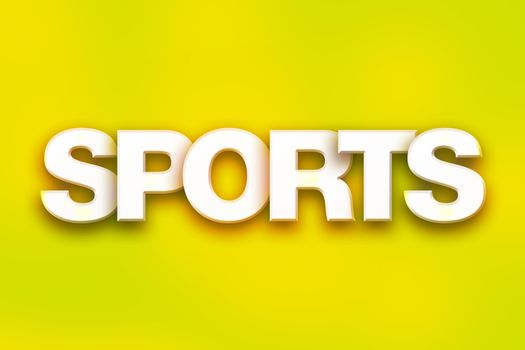 Sports Concept Colorful Word Art