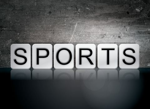 Sports Tiled Letters Concept and Theme