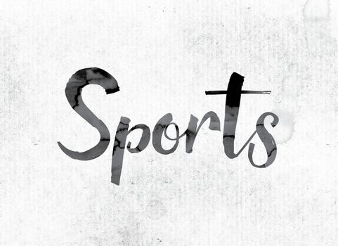 Sports Concept Painted in Ink