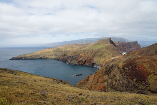 Ponta de Sao Lourenco, the easternmost part of Madeira Island, on cloudy day