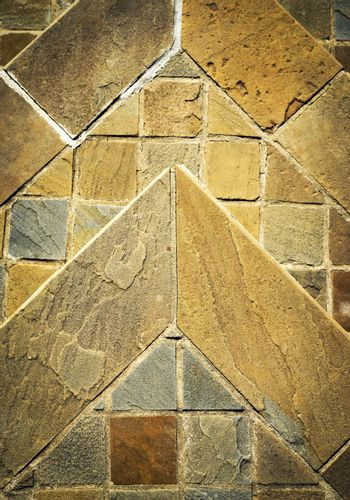 detail stone pavement made of sandstone