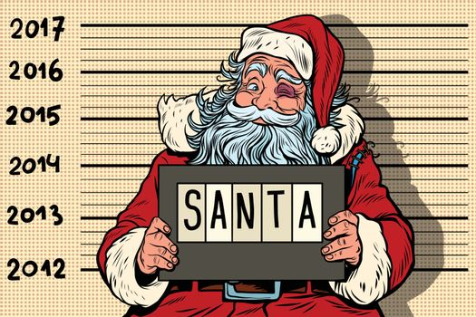 Criminal Santa Claus arrested, 2017 New year