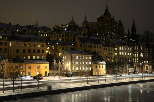 Evening scenery of Stockholm