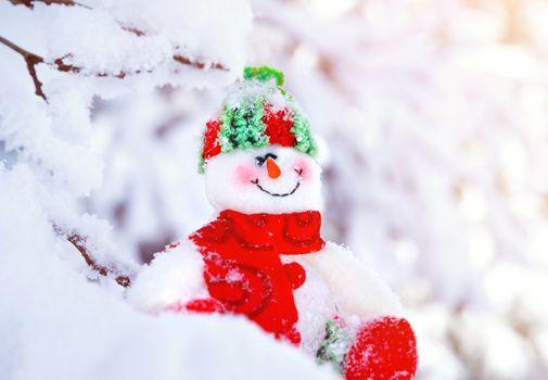 Cute little snowman toy