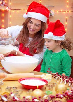 Happy family preparing for Christmas