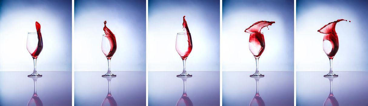 Collage of wine glasses