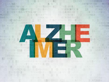 Medicine concept: Alzheimer on Digital Data Paper background
