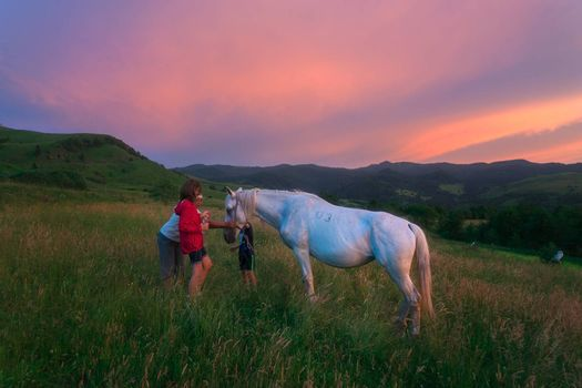 You can witness this scenery if you dine with shepherds in the carpathians.