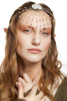 Elf beautiful woman portret.