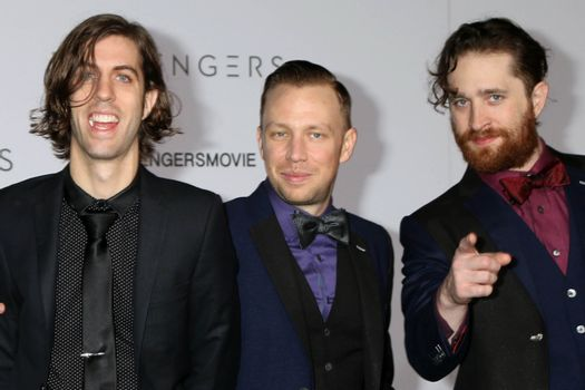"""Imagine Dragons at the """"Passengers"""" Premiere, Village Theater, Westwood, CA 12-14-16/ImageCollect"""
