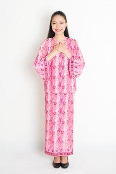 Southeast Asian girl greeting