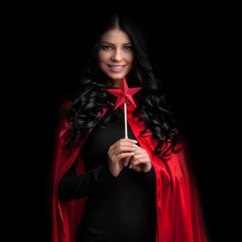Woman with magic wand