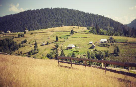Carpathian landscape, Ukraine, Synevyrska glade