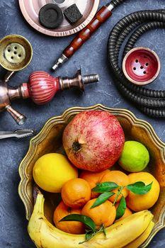 Hookah with taste of tropical fruits